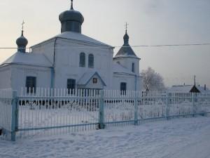 Храм зимний вид